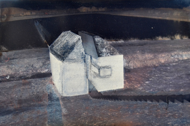 An invisible world #17, mixed media on paper, 11x15 cm, 2012