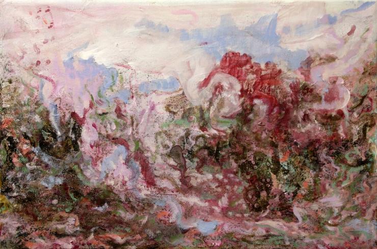 The Marvelous Mountain #3, mixed media on canvas, 2016